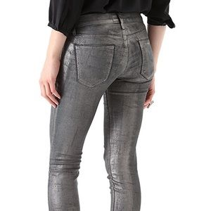 Current/Elliott Jeans Stiletto Silver Coated Foil